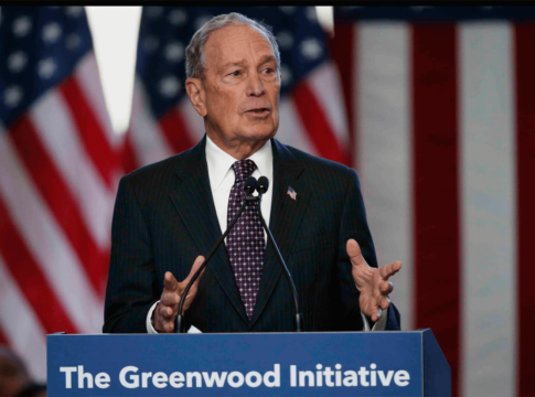 Democratic presidential candidate Michael Bloomberg speaks at the Greenwood Cultural Center in Tulsa, Okla., in January.