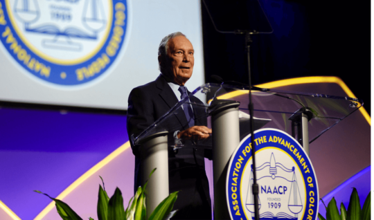 Michael Bloomberg addresses the NAACP