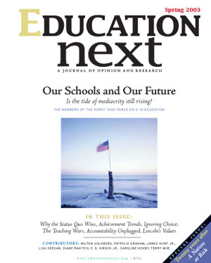 Cover of Spring 2003 issue