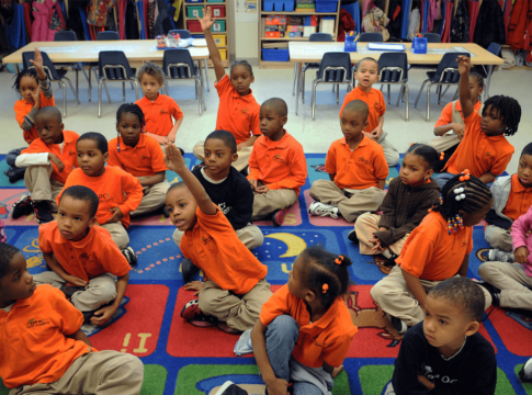 A class at LEAP Academy Early Childhood School at KIPP DC, a network of high-performing, public charter schools in Washington.