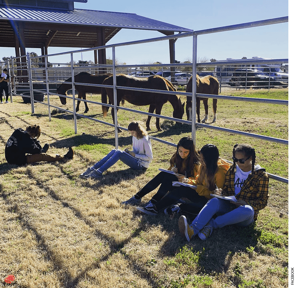 Students at Arizona Agribusiness and Equine Center High School - Paradise Valley