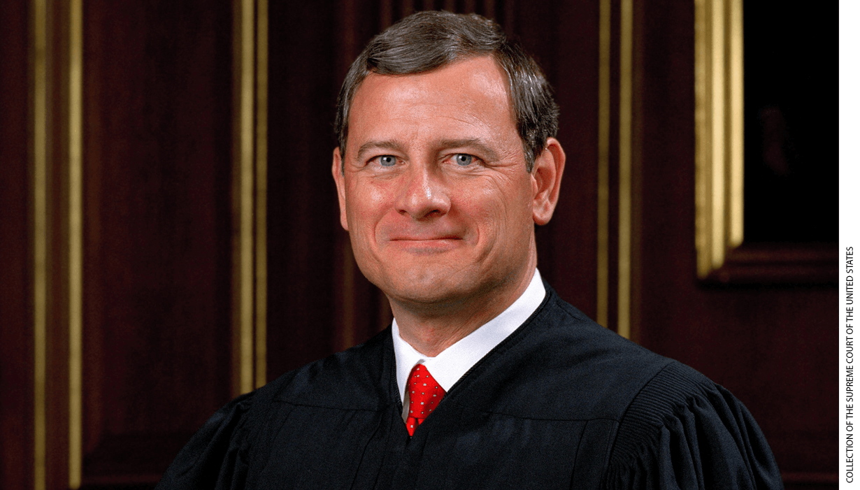 Portrait of Supreme Court Chief Justice John G. Roberts, Jr.