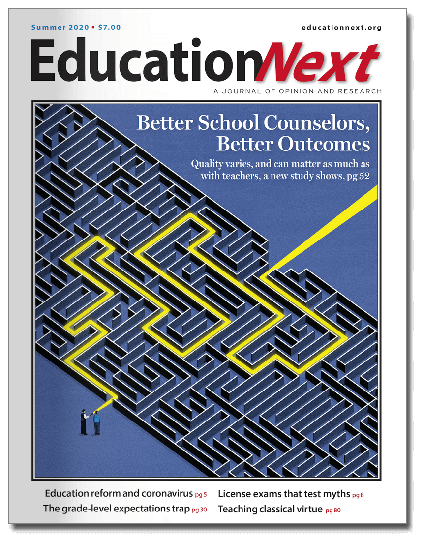 Cover of the Summer 2020 issue of Education Next
