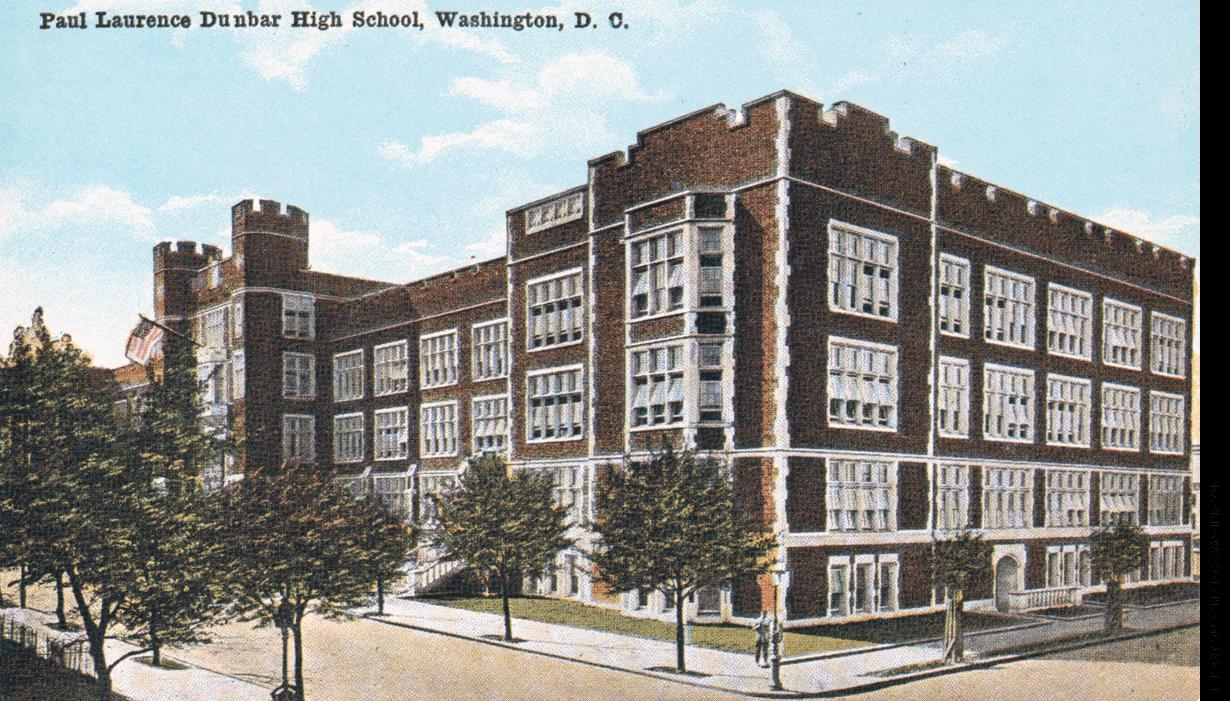 Illustration of Dunbar High School in Washington, D.C.