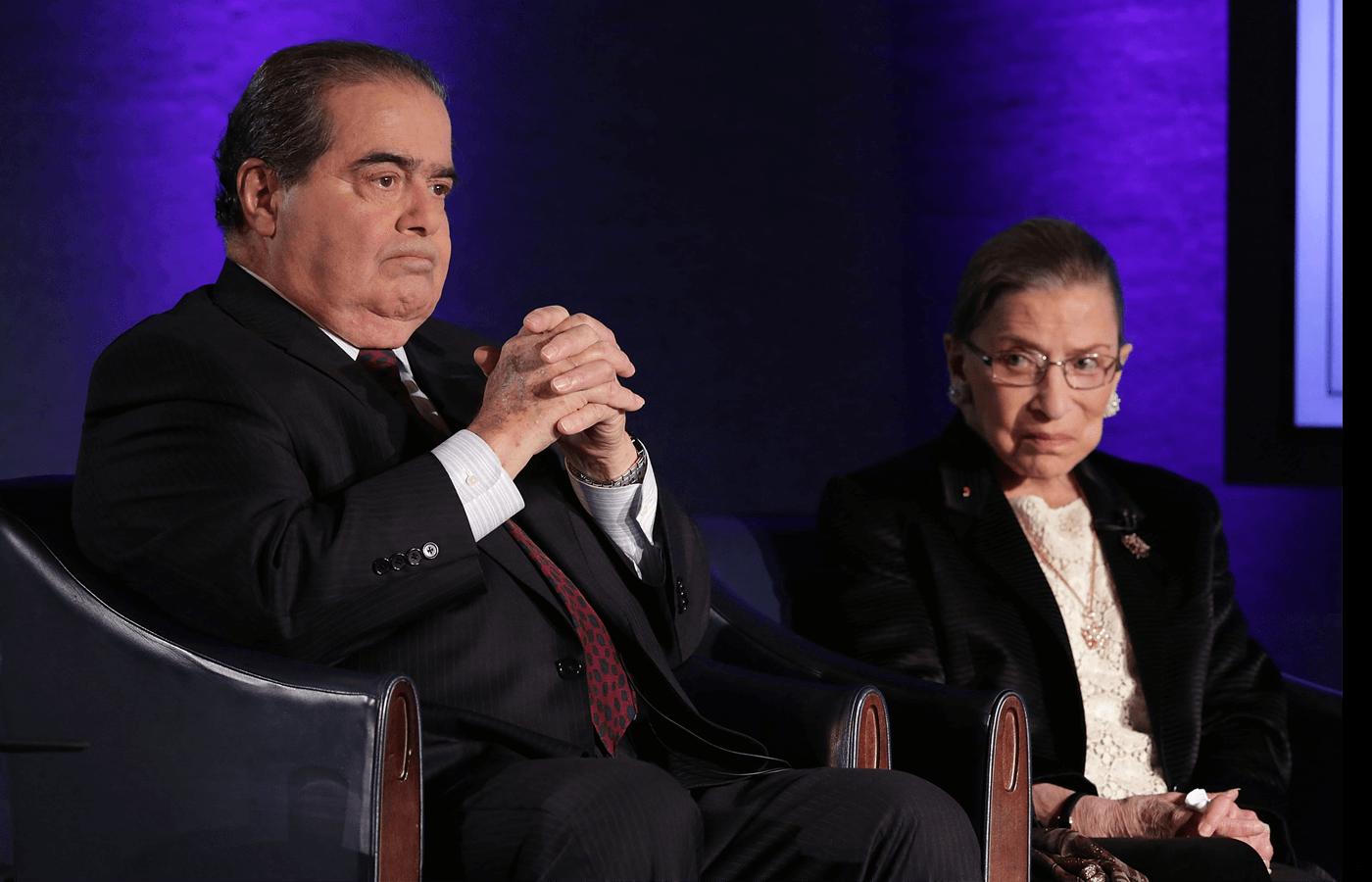Antonin Scalia (left) and Ruth Bader Ginsburg