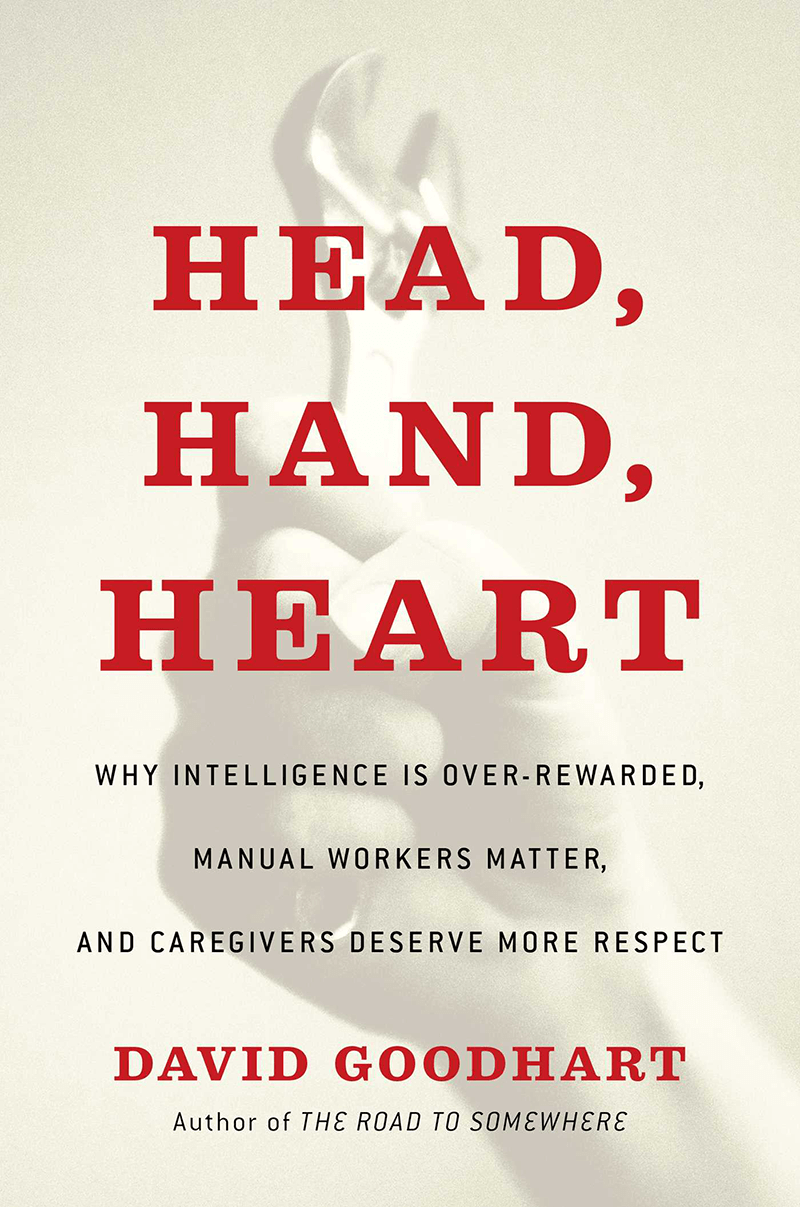 "Book cover of ""Head, Hand, Heart"" by David Goodhart"