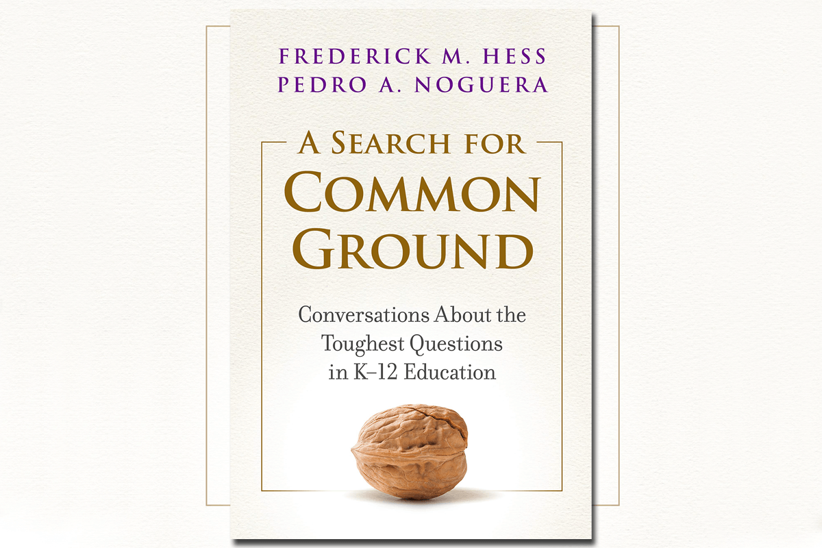 """Book cover of """"A Search for Common Ground: Conversations About the Toughest Questions in K–12 Education"""""""
