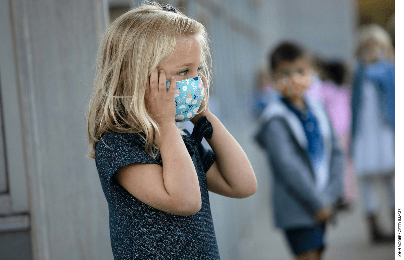 About half of parents favor requiring students to wear masks when schools open in the fall, and about a third oppose the practice, with the rest taking a neutral position.