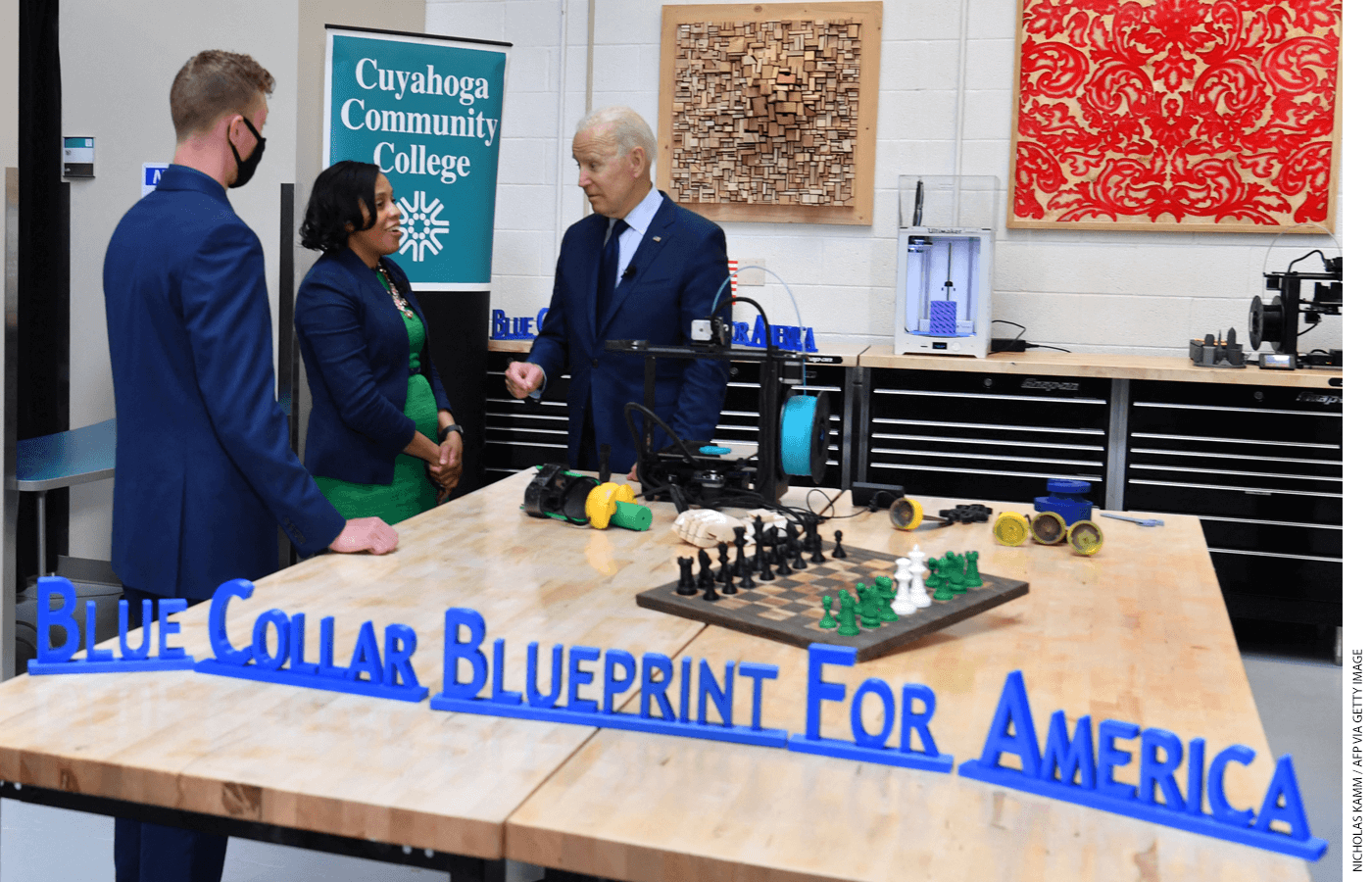 In May 2021, President Biden discussed the economy at an Ohio community college.