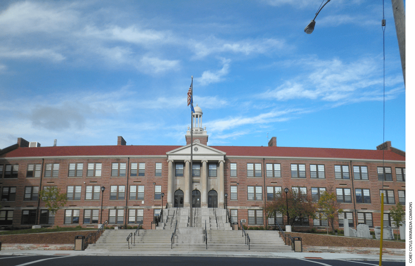Exterior of Madison West High School