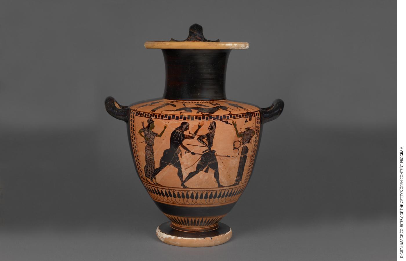"""Attic Black-Figure Hydria,"" Lykomedes Painter, Athens, Greece, 520–510 B.C."