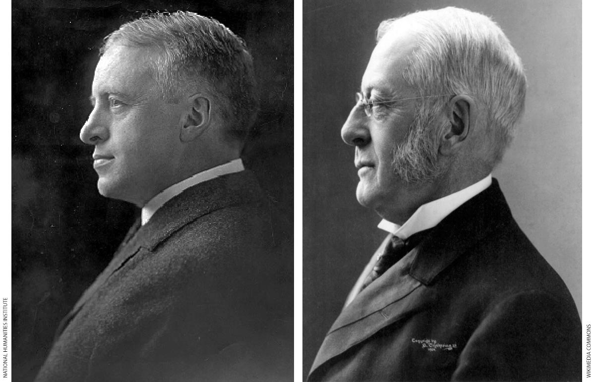Irving Babbitt, left, and Charles Eliot.