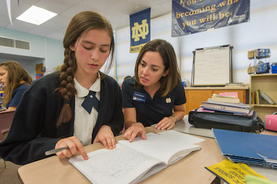Beginning in the 2016-2017 school year, the PSMO Notre Dame ACE Academies will operate fourteen schools in five dioceses in three states. (Photo by Matt Cashore/University of Notre Dame, copyright University of Notre Dame)
