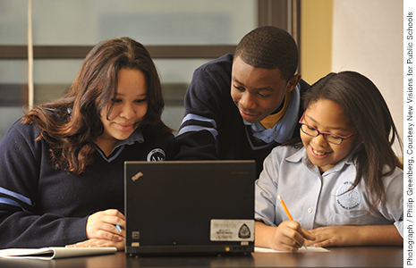 High schools that received grants from the Gates Foundation had positive results with personalization and collaboration.
