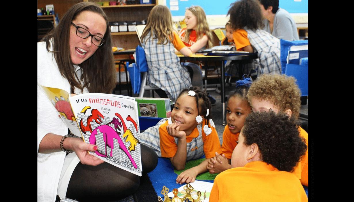 Carolyn Syskowski teaches a class at Success Academy.