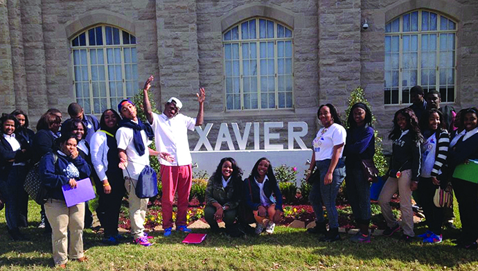Students from ReNEW Accelerated High School visit Xavier University. (Photo/Courtesy Renew Schools)