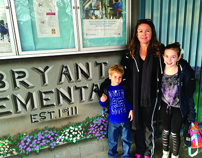 Tabitha Brown's two children attend Riverside's Bryant school