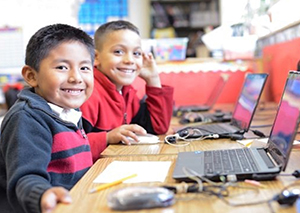 ASCEND, a K‒8 charter school, has a Chromebook for every student and every teacher. (Photo / Hasain Rasheed / Courtesy Rogers Family Foundation)