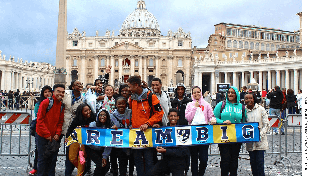 Students in the Democracy Prep Global Citizens program travel to Rome, Italy.