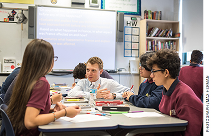 The school day at Noble is structured to ensure that all students receive differentiated instruction in smaller-group settings.