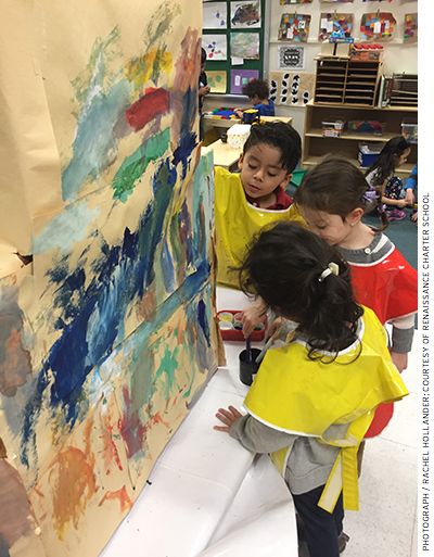 Renaissance's approach incorporates a strong focus on music and the arts.