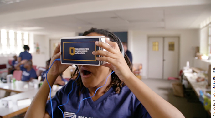At Washington Leadership Academy, students will experience innovative learning opportunities through STEM and new technology, such as virtual reality and, eventually, holography.