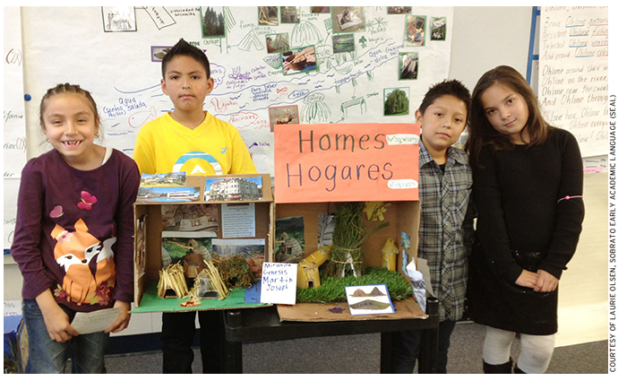 Third graders at Redwood City's Hoover Elementary School present a collaborative group project