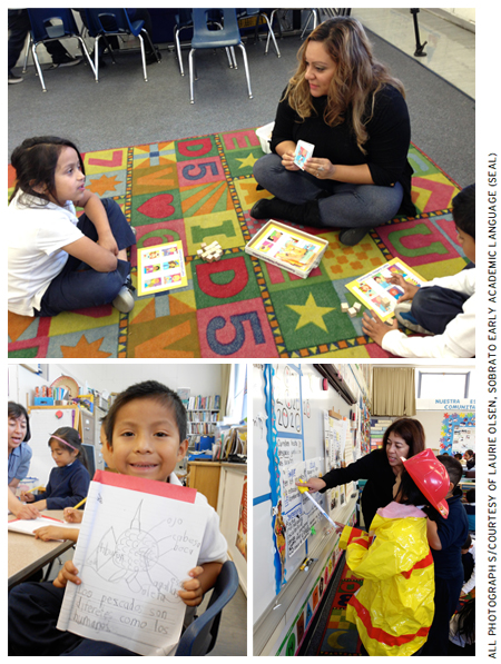 Starting in pre–K, children at Hoover talk, sing, chant, move, explore, experiment, and play in language-rich, text-rich, and information-rich environments.
