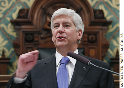 In 2014 under Governor Rick Snyder, Michigan passed a law that sought to limit union negotiating power.