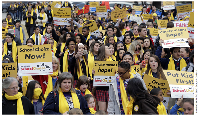 School choice rally in Austin, Texas, during the 2015 National School Choice Week