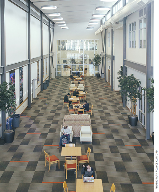The atrium at Innovations Early College High School in Salt Lake City