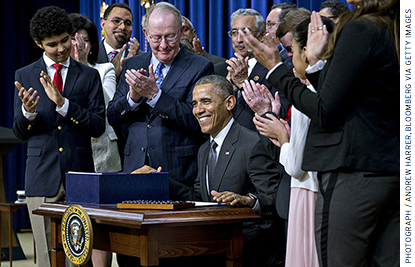 The Every Student Succeeds Act, signed into law at the end of 2015, requires annual testing but removes most of the other NCLB regulations.