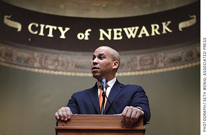 Senator Cory Booker, who previously served as Newark's mayor, agreed with Christie that something radical should be done.