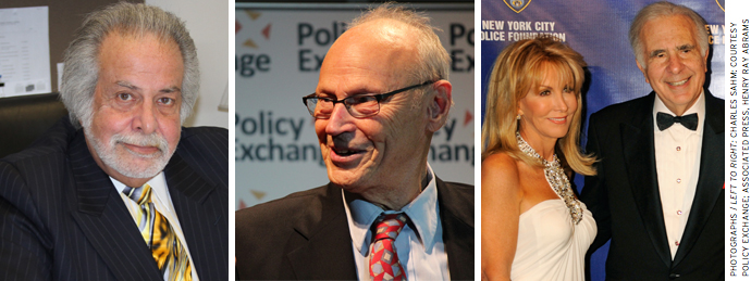 Icahn Superintendent Jeff Litt (left) employs the curricular material developed by E. D. Hirsch (center) at the network of charter schools founded by Carl and Gail Icahn (right).