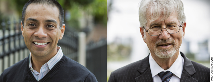 In the spring of 2015, charter founder Ref Rodriguez (top) challenged the union-friendly incumbent Bennett Kayser for a seat on the school board in what was possibly the most expensive school-board race in history.