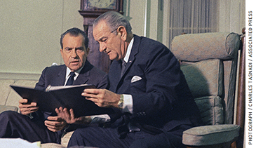 With the arrival of the Great Society, largely instigated by the Johnson and Nixon administrations (Johnson pictured right), a host of novel programs made new resources and services available to poor families.