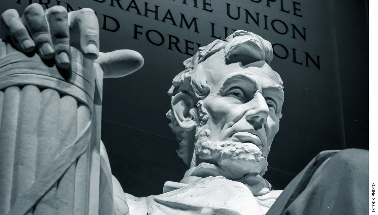 Lincoln used a patriotic version of the nation's revolutionary past and founding generation to try to hold the Union together and provide meaning in the Gettysburg Address.