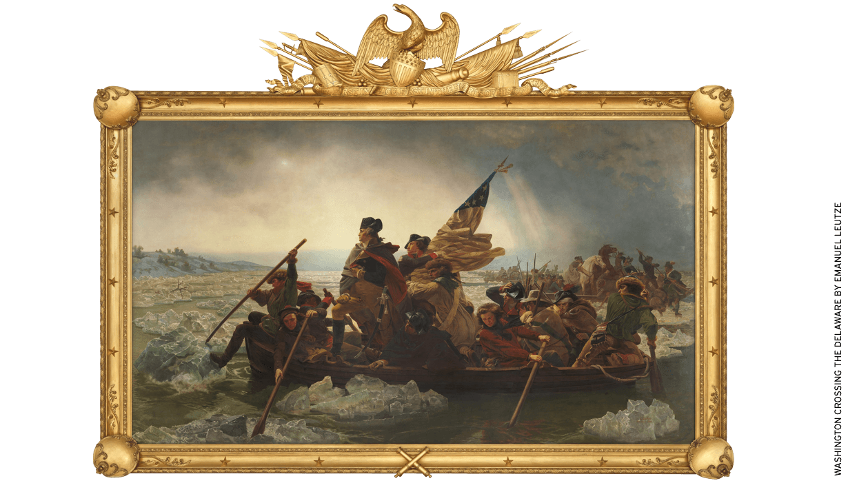 Washington's crossing of the Delaware is the focus of a book by David Hackett Fischer that melds critical and patriotic history.
