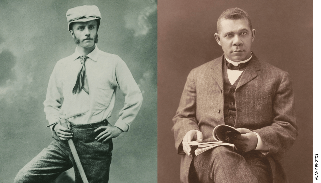 Worth celebrating: Booker T. Washington (right) and young Theodore Roosevelt.