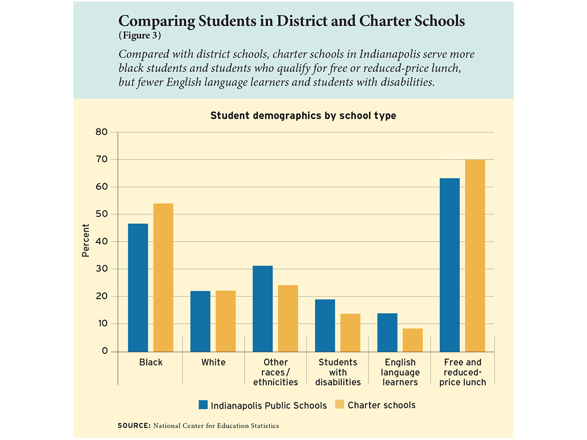 Comparing Students in District and Charter Schools (Figure 3)