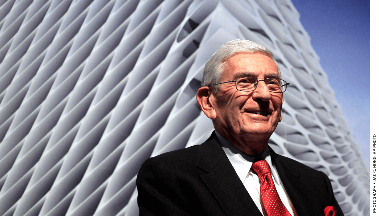 Charter proponent and philanthropist Eli Broad backed a measure to enact a new tax to support the schools.