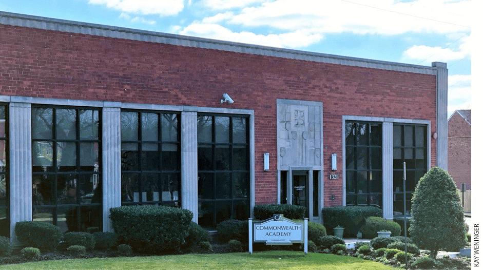 Exterior of Commonwealth Academy