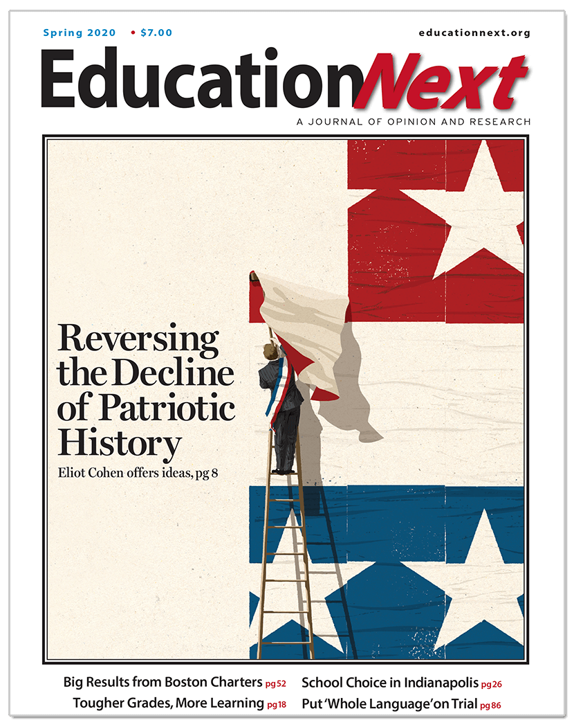 Cover of the Spring 2020 issue of Education Next